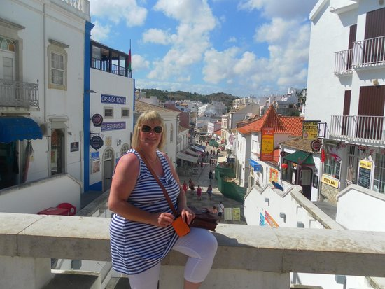 Centro Historico de Albufeira: looking down part of the old town