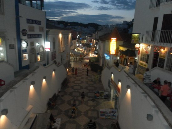 Centro Historico de Albufeira: part of the old town at night