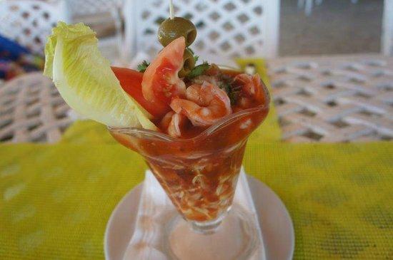 Hotel Hacienda Morelos: Shrimp coctail