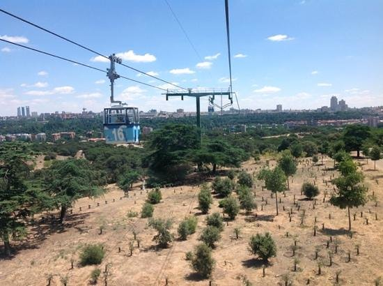Teleferico: The outskirts of Madrid....