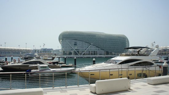 Yas Viceroy Abu Dhabi: Hotel, as seen from Marina opposite.