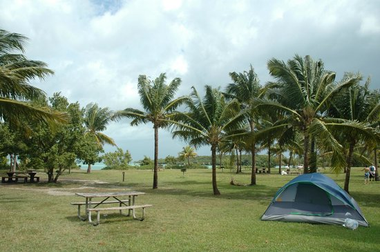 Boca Chita Key Campground: Camping area is first come, first served, accessible only by boat.