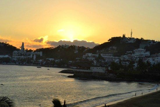 Camino Real Manzanillo: desde mi habitación el atardecer