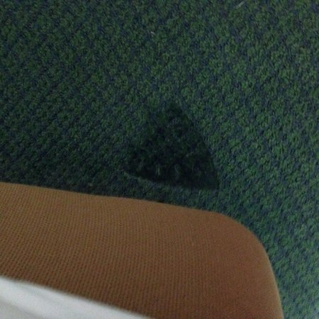 Tropicana Atlantic City: Mark on the floor from iron. Needs to be patched