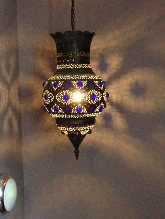 Jolyon's at No. 10: Lovely lamp in stairwell