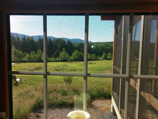 Robert Frost Mountain Cabins: The view from our bedroom