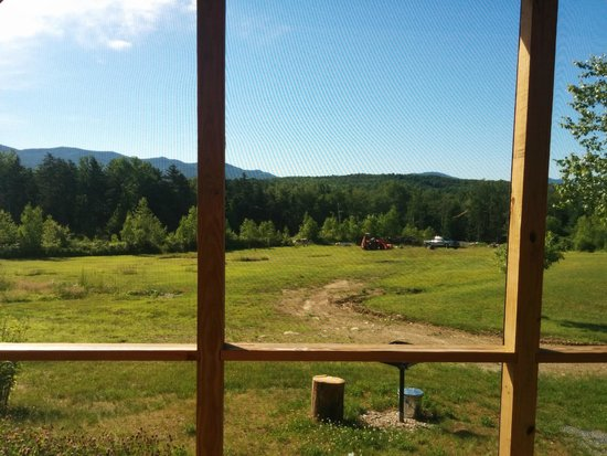 Robert Frost Mountain Cabins: The view from our porch