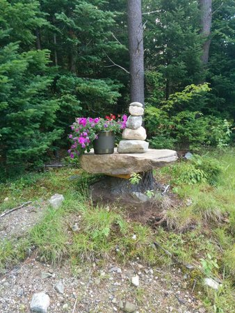 Robert Frost Mountain Cabins: Rocks make beautiful art