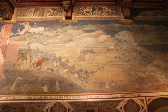 Palazzo Pubblico and Museo Civico: Амброджо Лоренцетти. «Плоды доброго правления»