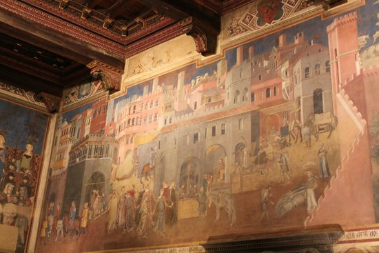 Palazzo Pubblico and Museo Civico: Амброджо Лоренцетти. Плоды доброго правления