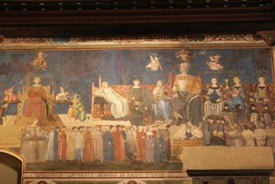 Palazzo Pubblico and Museo Civico: Амброджо Лоренцетти. «Аллегория доброго правления