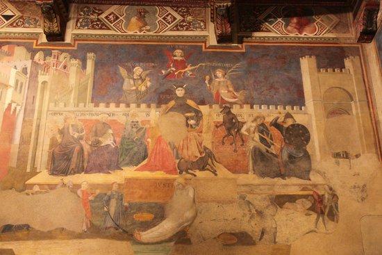 Palazzo Pubblico and Museo Civico: Амброджо Лоренцетти. «Плоды дурного правления»