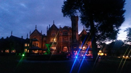 The Oakley Court: At night