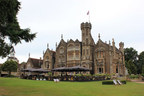 The Oakley Court: View from the grounds
