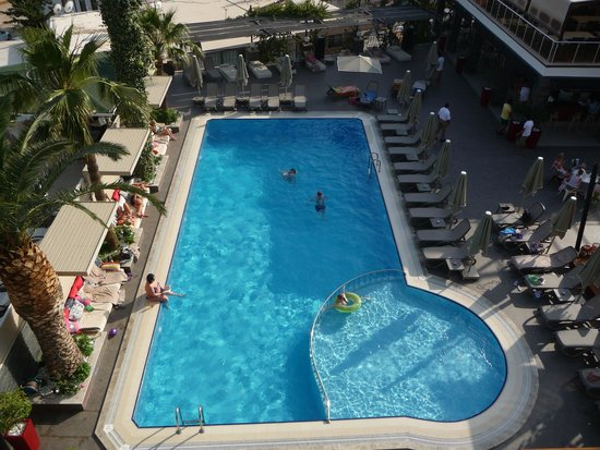 Samira Exclusive Hotel & Apartments : pool from the balcony