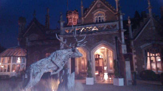 The Oakley Court: Entrance to the hotel
