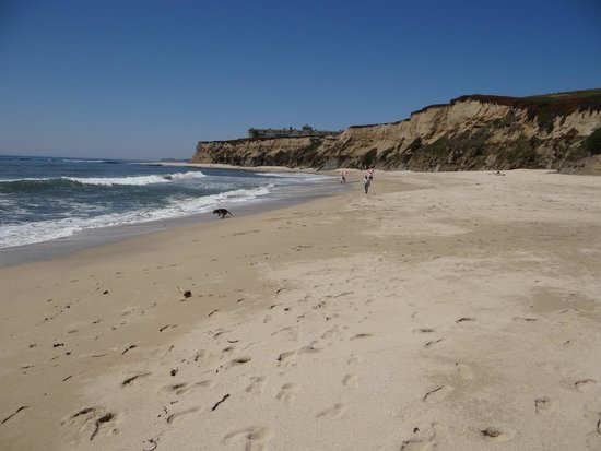The Ritz-Carlton, Half Moon Bay: The beach accessible from the foot path
