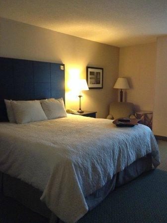 Hampton Inn & Suites Reagan National Airport: room 703 Comfortable king bed