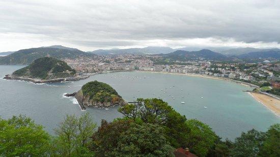 Playa de La Concha: Vista desde el monte Igueldo