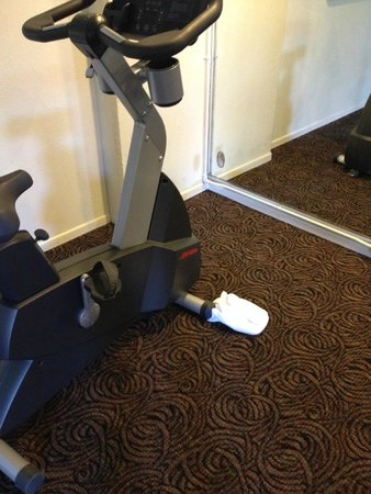 Crowne Plaza Silicon Valley North-Union City: How about tidying up the gym sometime?