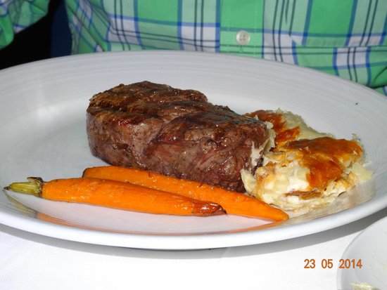 Prime Creekstone Farm New York Steak with Peppercorn Sauce