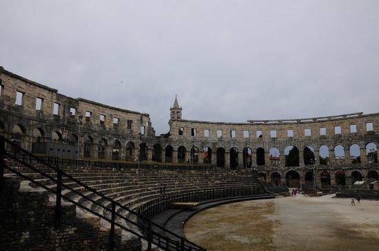 The Arena in Pula: Interior