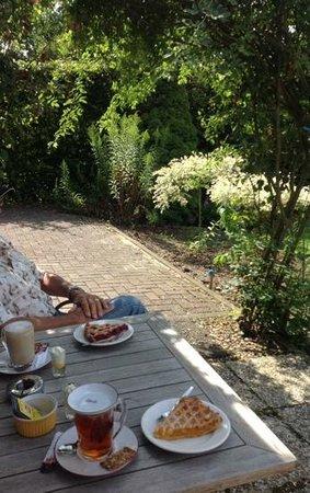 "Fletcher Hotel-Restaurant Bon Repos : Terrace tea, coffee, and ""vlaai""."