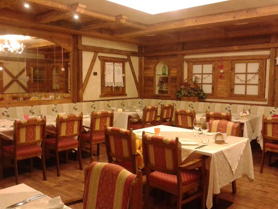 Hotel Piz Galin: Meravigliosa sala da pranzo