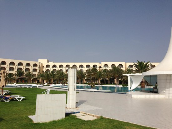IBEROSTAR Averroes: from sunbeds looking towards the hotel
