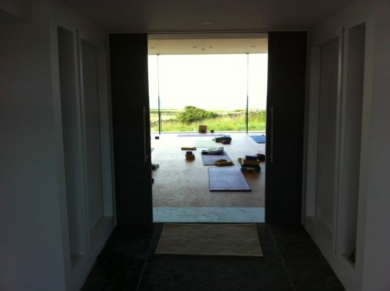 The Cliffs of Moher Retreat: Entering the new yoga studio