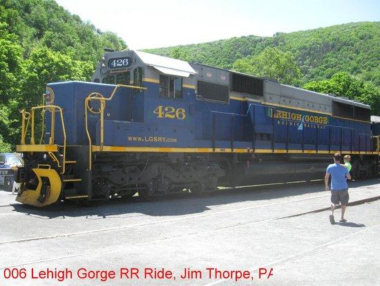 Ride Locomotive on the Lehigh Gorge Scenic Railway