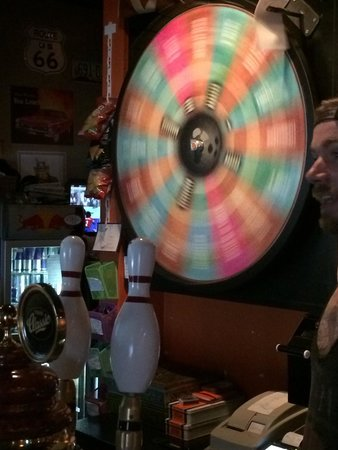 Spinning wheel of fortune
