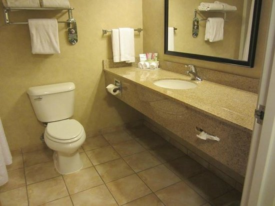 Holiday Inn Express Cedar City: Spacious, clean bathroom