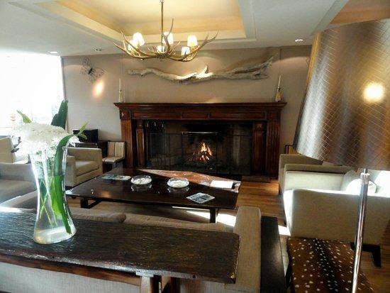 Panamericano Bariloche: Lobby, com lareira