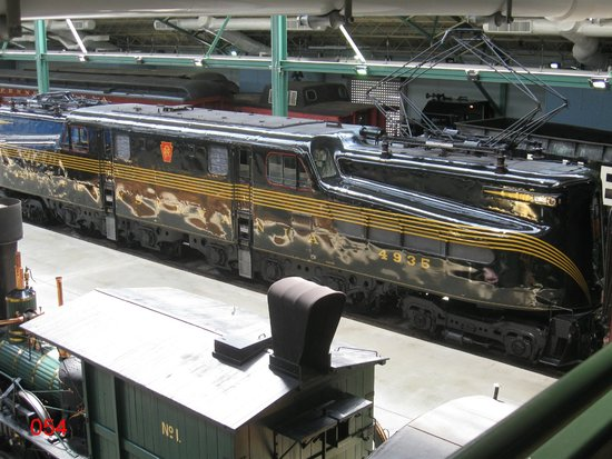 Railroad Museum of Pennsylvania: An Electric Loco Viewed From The Overbridge