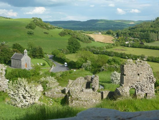 View Of The Church and Countryside from The Rock of Dunamase