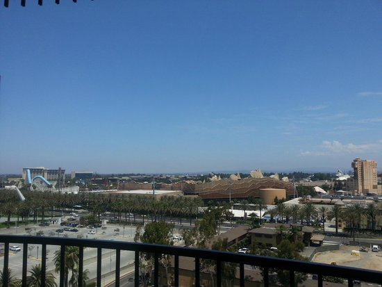 Sheraton Park Hotel at the Anaheim Resort: View of California Adventure from our room.