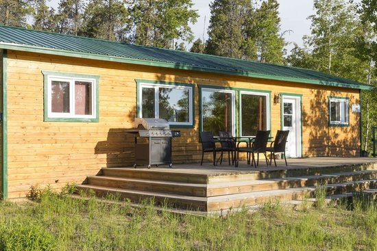 Sundog Retreat: Fireweed from the exterior with large patio for outside dining/relaxing