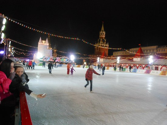 Roter Platz: Ice rink in Red Square