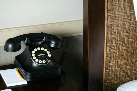 Hangar Hotel : 1940's phone in room is example of attention to details