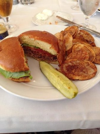 Sinclair's Restaurant: Bacon burger with housemade chips