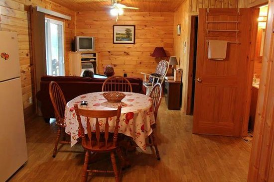 Country Haven Lodge Cottages Inside The 2 Bedroom CottageKitchen Living