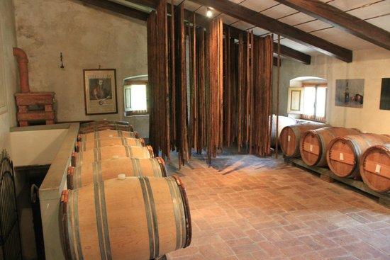 Castello di Verrazzano: Здесь сушат вино