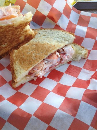 Beal's Lobster Pier: Lobster Grilled Cheese