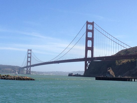 San Francisco Fire Engine Tours & Adventures : View from the stop after crossing the bridge