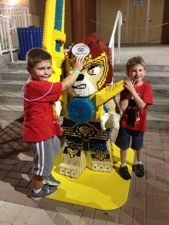 LEGOLAND Florida Resort: These guys had a great sweaty day at Legoland