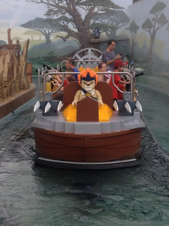 LEGOLAND Florida Resort: This new Chima ride was AWESOME! And the boys got soaked!! Wear your swim suit for this ride!!