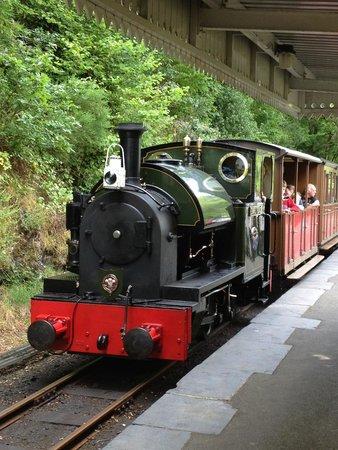 Talyllyn Railway: Train at Abergynolwyn Station
