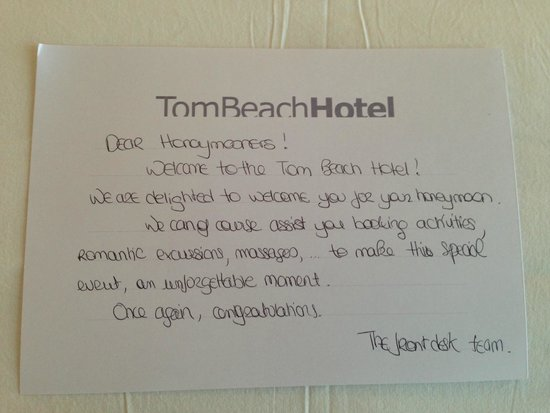 Tom Beach Hotel: Incredible Staff