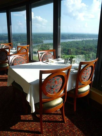 Marriott Shoals Hotel & Spa: Top of the world dining/drinks